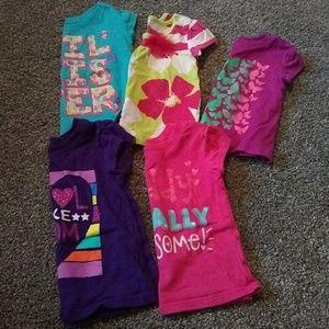 6-9 month girls children's place t-shirt lot